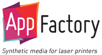 AppFactory synthetic media for laser printers